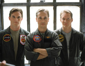 Mike Doyle, Chad Lowe, and Bill Dawesin a promo shot for Burning Blue(Photo: David Morgan)