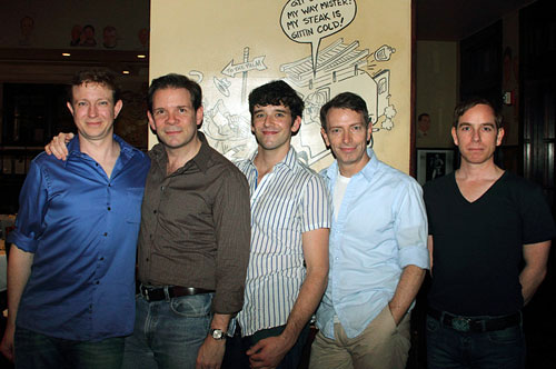 Matthew Schneck, Thomas Jay Ryan, Michael Urie, Arnie Burton, and Sam Breslin Wright