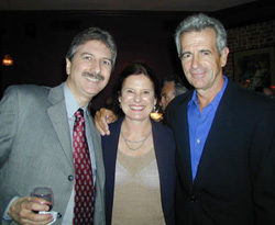 James Naughton (r) with wife Pam an
