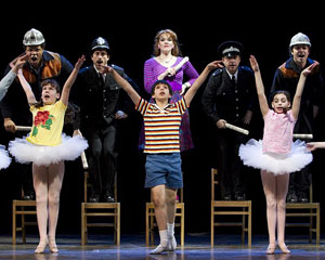 Emily Skinner and Cesar Corrales (center)