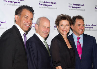 Brian Stokes Mitchell, Jonathan Tisch, Annette Bening, and Kevin McCollum