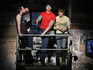 Michael Esper, Stark Sands, and John Gallagher Jr.