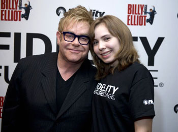 Elton John and Katarzyna Roszczeda