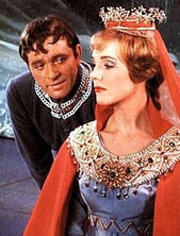 Richard Burton and Julie Andrewsin Camelot
