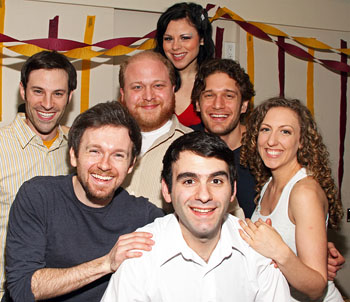 Joe Iconis (front) with cast members (left to right) Lance Rubin,Jeremy Morse, Jason 'Sweettooth' Williams, Katrina Rose Dideriksen,
