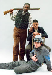 Charlie Robinson, Avery Glymph and Mark J. Sullivan  in The Whipping Man (courtesy of The Old Globe)