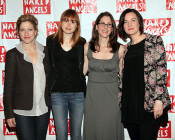 Edie Falco, Allison Pill, Anne Kaufman, and Chloe Moss
