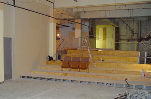 A view from the stage:Abingdon's theater is still under construction