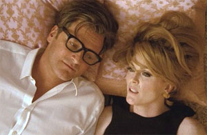 Colin Firth and Julianne Moore in A Single Man