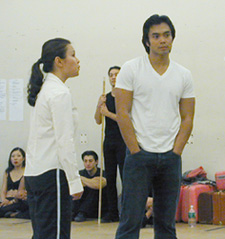 Salonga and Llana in rehearsalfor Flower Drum Song(Photo:  Michael Portantiere)