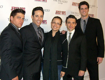 Deven May , Jeff Leibow, Lea Salonga, Rick Faugno, and Peter Saide