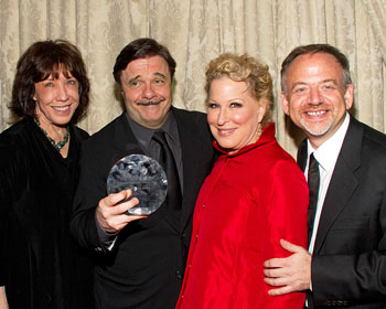Lily Tomlin, Nathan Lane, Bette Midler, and Marc Shaiman
