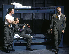 Mike Doyle, Chad Lowe, and Bill Dawes in Burning Blue(Photo: Carol Rosegg)