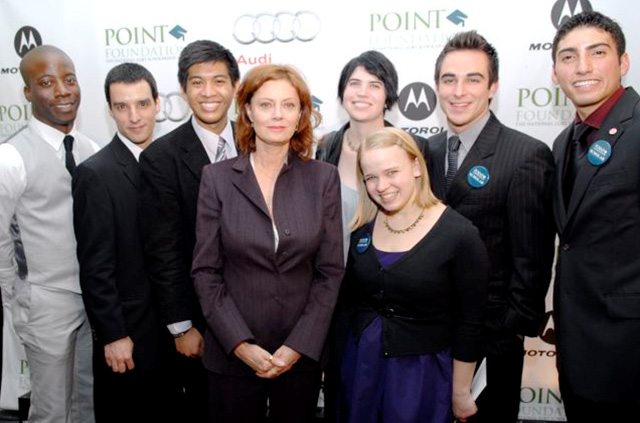 Susan Sarandon with Point Scholars
