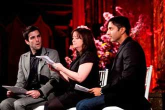 Zachary Quinto, Rachel Dratch, and Maulik Pancholy in
