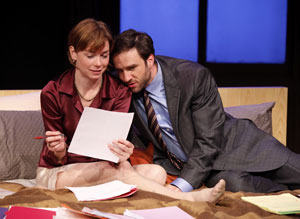 Julianne Nicholson and James Waterston