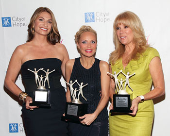 Heather Thomson, Kristin Chenoweth, and Kathie Lee Gifford
