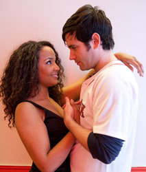 Stephanie Umoh and Colin O'Donnell star in Johnny Baseball (Photo courtesy of the company)