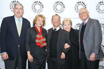 Marvin Hamlisch,  Pat Mitchell, Joel Grey, Marilyn and Alan Bergman