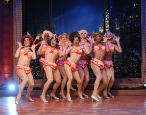 La Cagelles perfomring on LIVE! with Regis and Kelly