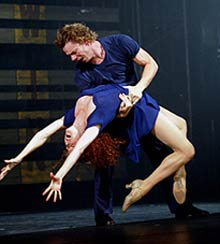 Elizabeth Parkinson and Keith Robertsin Movin' Out(Photo: Joan Marcus)