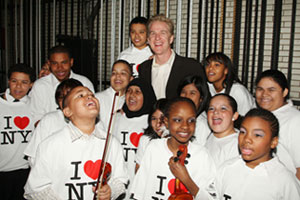 Matthew Modine with Garden of Dreams kids