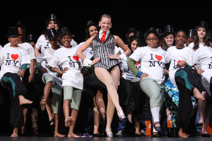 Rockette Christina Hedrick with Garden of Dreams kids