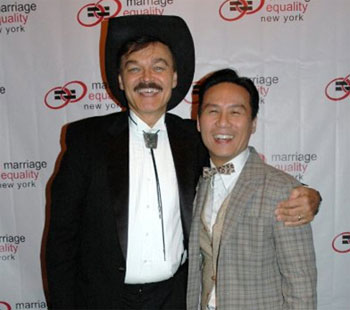 Randy Jones and B.D. Wong