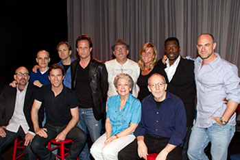 Back (L to R): Zeljko Ivanek, Lee Tergesen, Dean Winters, Tom Fontana,