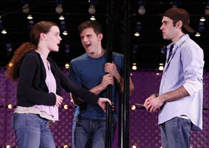Jennifer Damiano, Kyle Dean Massey, and Adam Chanler-Berat in Next to Normal (© Joan Marcus)