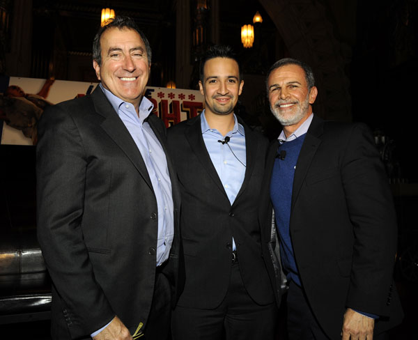 Kenny Ortega, Lin-Manuel Miranda, and Tony Plana