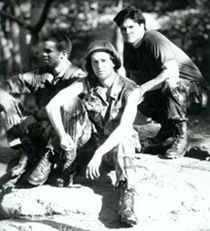 Nixon Cesar, Kyle Pierson, and Peter Stewart ina publicity shot for A Soldier's Death(Photo: Carol Schaefer)
