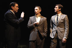 Thomas Jay Ryan, Arnie Burton, and Michael Urie