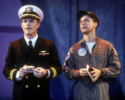Mike Doyle and Chad Lowe in Burning Blue(Photo: Carol Rosegg)