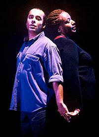 Howard W. Overshown andDael Orlandersmith in Yellowman(Photo:  Joan Marcus)