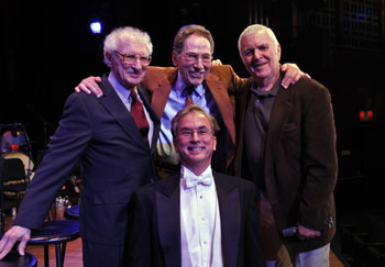 Sheldon Harnick, Tom Lehrer, John Kander, and Rob Fisher