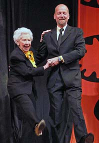 Doris Eaton Travis and Bill George