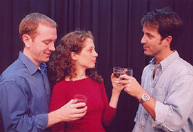 Kelly Miller, Carla Tassara, and Declan Mooneyin Paddywack