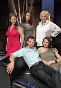 Rena Strober, Andrea Grano, Betty Buckley, Tuc Watkins, and Christy Carlson Romano