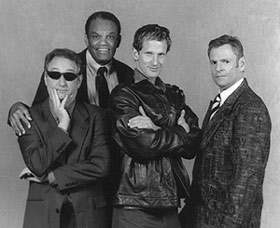 Will Huddleston, Lewis Sims, Andrew Nance,and Russ Duffy in The Men From the Boys