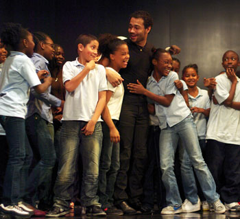 Corbin Bleu with participating students