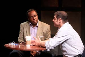 John-Martin Green and Lou Liberatore in Turnaround, part of E.S.T.'s Marathon of One-Act Plays 2010  (Photo courtesy of the company)
