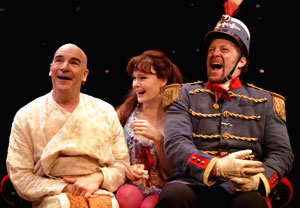 Mandy Patinkin, Kate Baldwin, and Shuler Hensley in Paradise Found (© Catherine Ashmore)