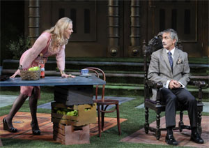 Kathryn Meisle and David Strathairn in Leaving