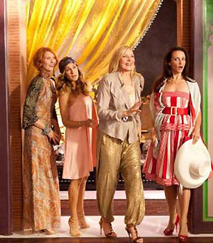 Cynthia Nixon, Sarah Jessica Parker, Kim Cattrall, and Kristin Davis in Sex and the City 2 (© Craig Blankenhorn/New Line Productions)