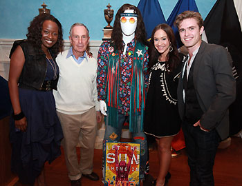 Jeannette Bayardelle, Mayor Bloomberg, Diana DeGarmo