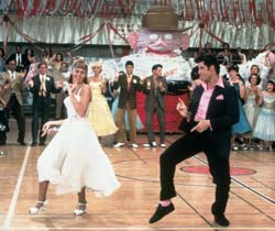 Olivia Newton-John and John Travolta in Grease