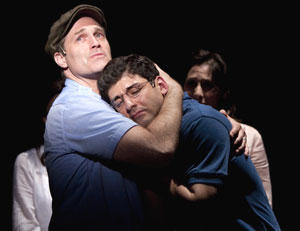 Marc Kudisch, Tony Yazbeck, and Judy Kuhn