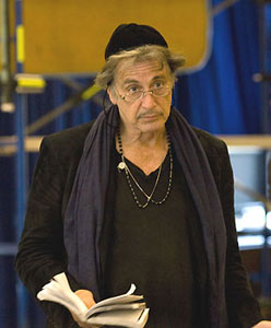 Al Pacino in rehearsal for Merchant of Venice
