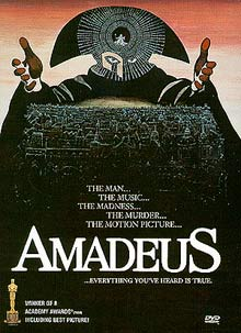 Milos Forman's Amadeus, adapted fromPeter Shaffer's Tony award-winning play